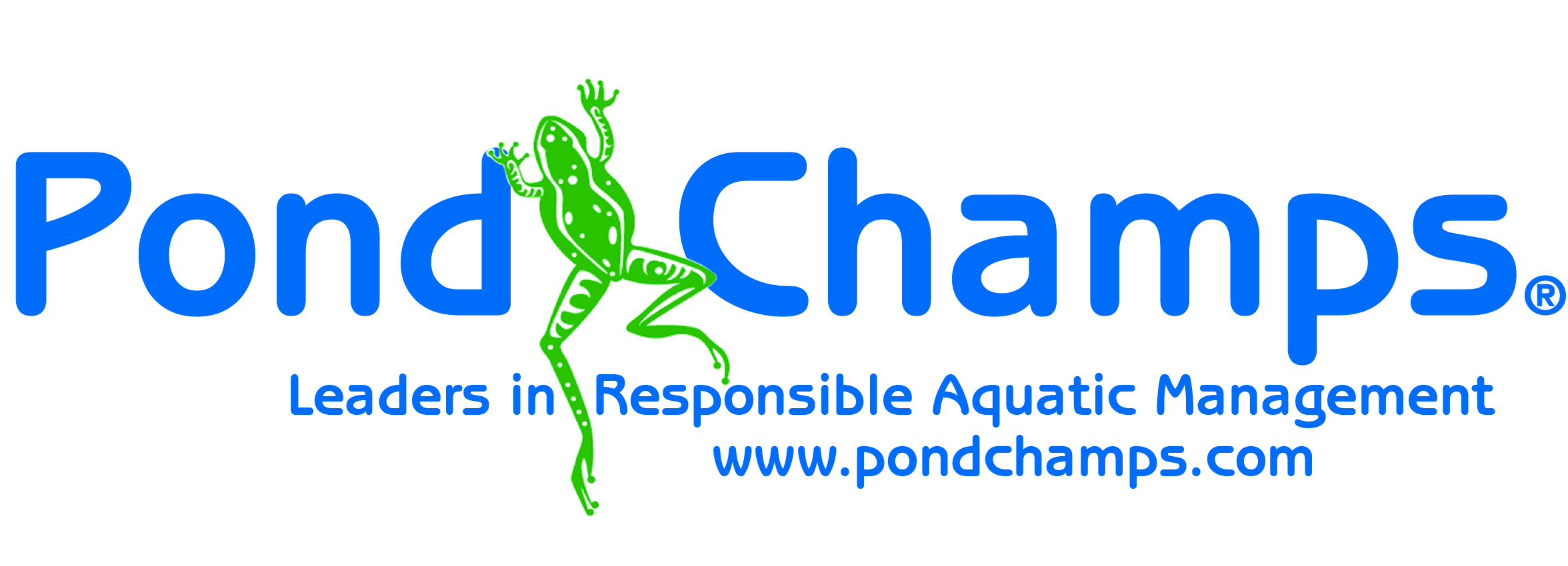 Pond Champs Logo 2013 with slogan and website